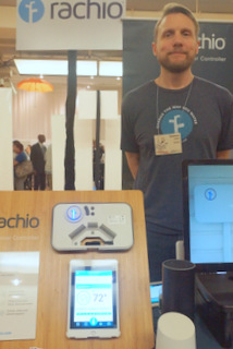 Rachio Marketing VP Damon Miller (Techstination photo by L. Fishkin)