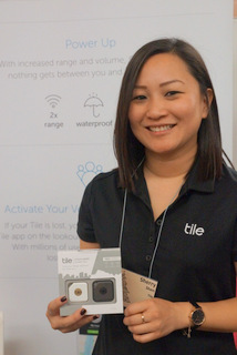 Tile Communications Director Sherry Shen (Techstination photo by L. Fishkin)