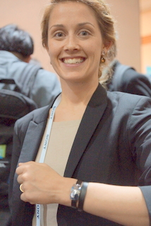 Netatmo's Amanda Garnier (BootCamp photo by L. Fishkin)