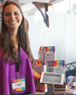 WowWee's Sydney Wiseman with DigiLoom (Techstination photo by L. Fishkin)
